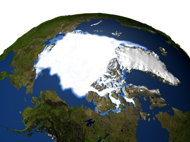 Picture of the north polar ice cap in 1979.
